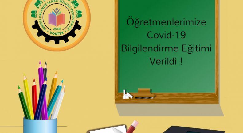 Öğretmenlerimize ve İdari Kadromuza Covid-19 ve Hijyen Semineri