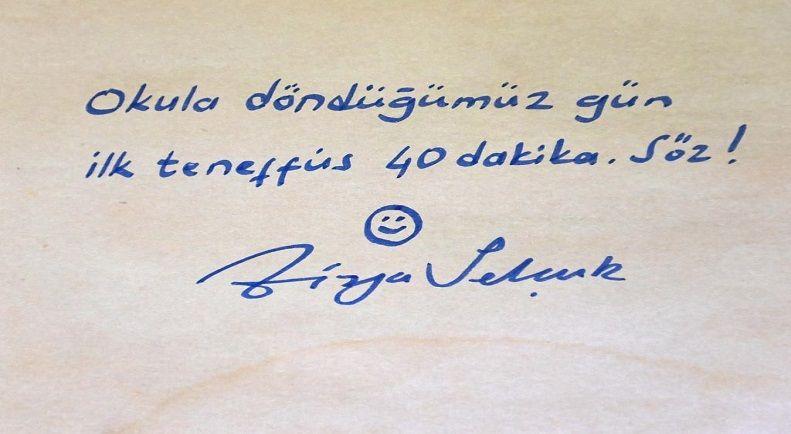 Bakanımız Sayın Ziya Selçuk'tan Mesaj Var!
