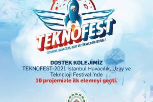 Teknofest 2021'de 10 Proje ile İlk Elemeyi Geçtik!